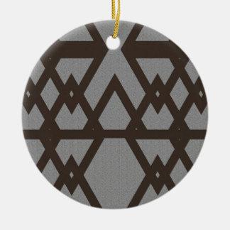 Ornamento De Cerâmica Triângulo e teste padrão das cinzas do diamante