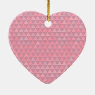 Ornamento De Cerâmica Triângulos cor-de-rosa de Mauvelous