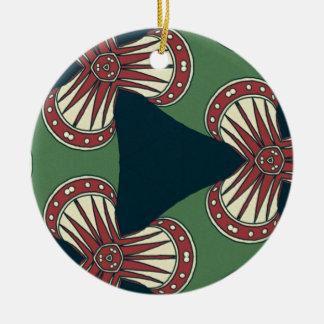 Ornamento De Cerâmica Triângulos verdes