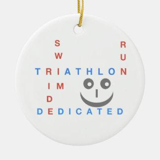 Ornamento De Cerâmica Triathlon eu sou dedicado