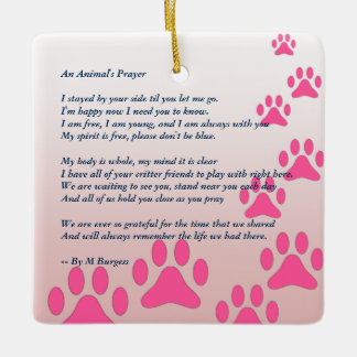 Ornamento De Cerâmica Tributo/memorial do animal de estimação -