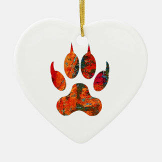 Ornamento De Cerâmica Trilha do lobo