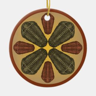 Ornamento De Cerâmica Trilobites de bronze e de cobre de Calymene