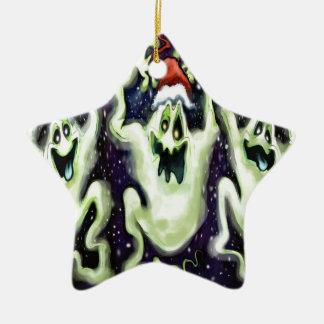 Ornamento De Cerâmica Trio espectral do Xmas