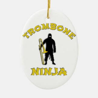 Ornamento De Cerâmica Trombone Ninja
