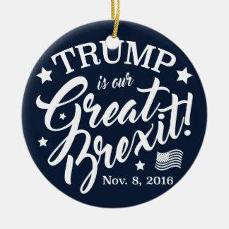 Ornamento De Cerâmica Trunfo Brexit