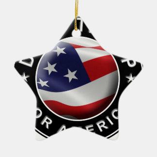 Ornamento De Cerâmica Trunfo da descarga para o logotipo do oficial de