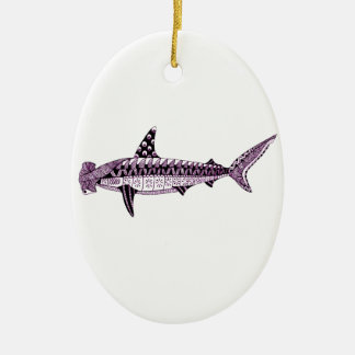 Ornamento De Cerâmica Tubarão de Hammerhead