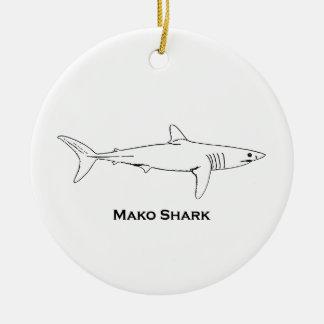 Ornamento De Cerâmica Tubarão de Mako
