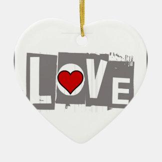 Ornamento De Cerâmica Tudo que você precisa é amor é tudo você precisa