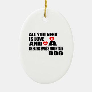 Ornamento De Cerâmica Tudo você precisa cães SUÍÇOS do CÃO da MONTANHA