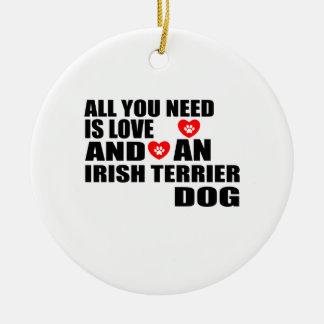 Ornamento De Cerâmica Tudo você precisa o design dos cães de TERRIER
