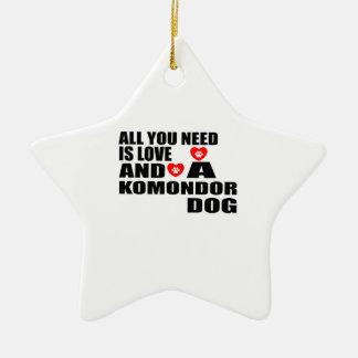 Ornamento De Cerâmica Tudo você precisa o design dos cães do amor