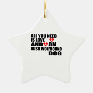 Ornamento De Cerâmica Tudo você precisa o design dos cães do WOLFHOUND