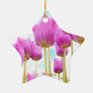 Ornamento De Cerâmica tulipas
