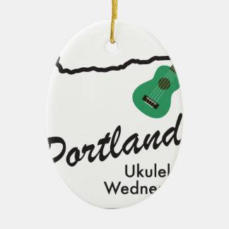 Ornamento De Cerâmica Ukulele quartas-feiras de Portland