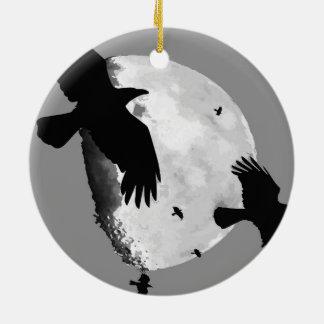 Ornamento De Cerâmica Um assassinato dos corvos e da lua