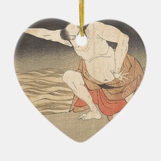 Ornamento De Cerâmica Um ator ao lado da água