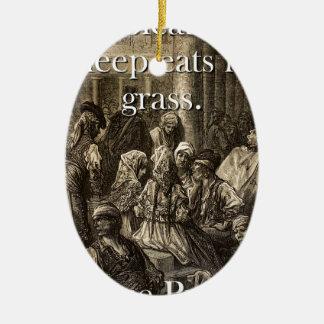 Ornamento De Cerâmica Um carneiro do balido come - o provérbio Basque