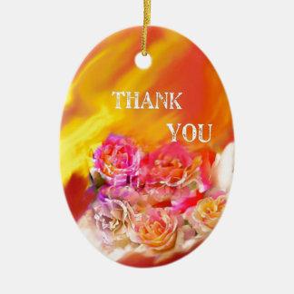 Ornamento De Cerâmica Um cheio da mão dos obrigados tende para você