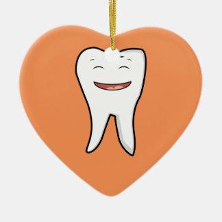 Ornamento De Cerâmica Um dente muito feliz