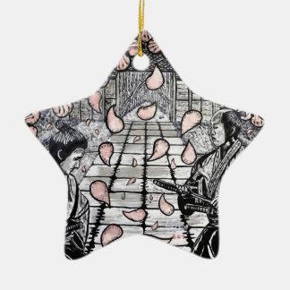 Ornamento De Cerâmica Um desenhar por Carter L. Shepard