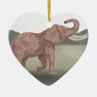 Ornamento De Cerâmica Um elefante do savana