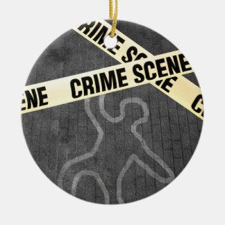 Ornamento De Cerâmica Um esboço de uma pessoa em uma rua. Assassinato?