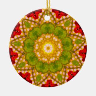 Ornamento De Cerâmica Um Fractal manchado do Natal