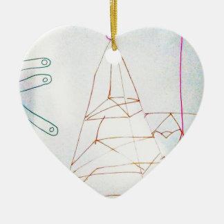 Ornamento De Cerâmica Um jogo do grânulo de vidro dos Geometers