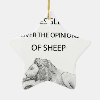 Ornamento De Cerâmica Um leão nunca