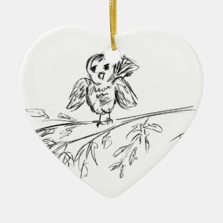 Ornamento De Cerâmica Um pássaro, o Tweet original