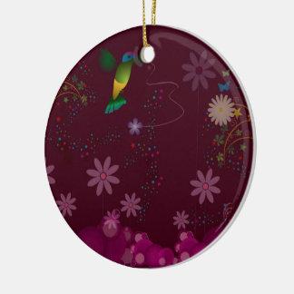 Ornamento De Cerâmica Um pintor do colibri