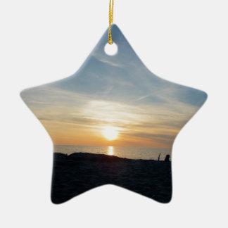 Ornamento De Cerâmica Um relance do céu