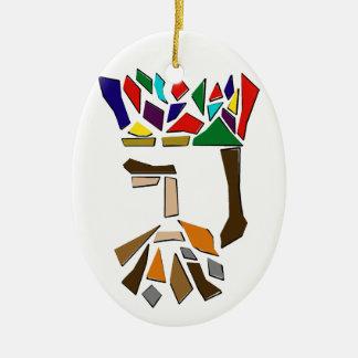 Ornamento De Cerâmica Um terço de três reis Ornamento, oval