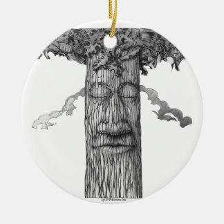 Ornamento De Cerâmica Um &W poderoso do cobrir da árvore