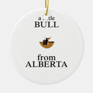 Ornamento De Cerâmica Uma Bull pequena de Alberta