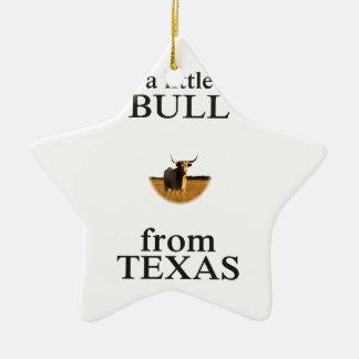 Ornamento De Cerâmica Uma Bull pequena de Texas