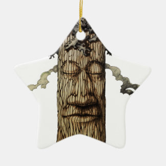 Ornamento De Cerâmica Uma capa poderosa da árvore