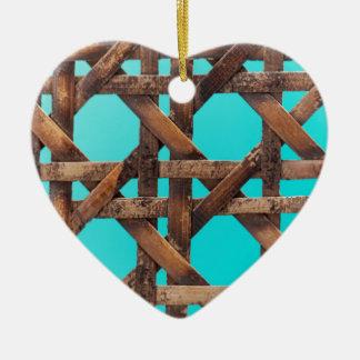 Ornamento De Cerâmica Uma foto macro da cestaria de madeira velha