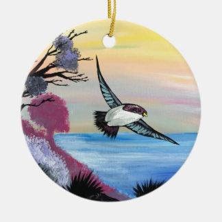 Ornamento De Cerâmica Uma opinião dos pássaros