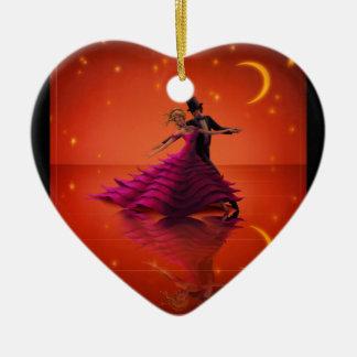 Ornamento De Cerâmica Uma valsa vermelha