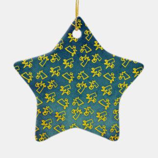 Ornamento De Cerâmica Unacorni e queijo