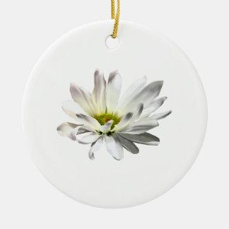 Ornamento De Cerâmica Única margarida branca