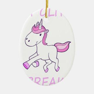 Ornamento De Cerâmica unicorn12