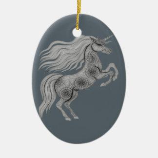 Ornamento De Cerâmica Unicórnio