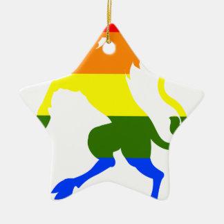 Ornamento De Cerâmica Unicórnio do arco-íris