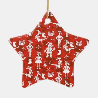 Ornamento De Cerâmica Unicórnios do Natal