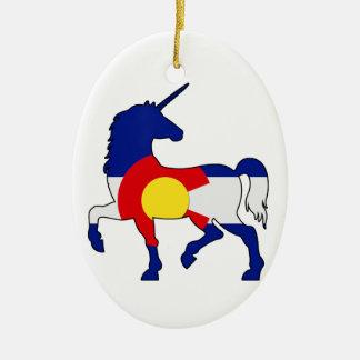 Ornamento De Cerâmica Unicórnios e Colorado!