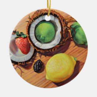 Ornamento De Cerâmica Unidade do coco do limão do limão de StBerry